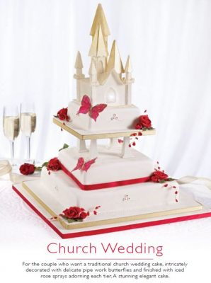 Church wedding cake 1