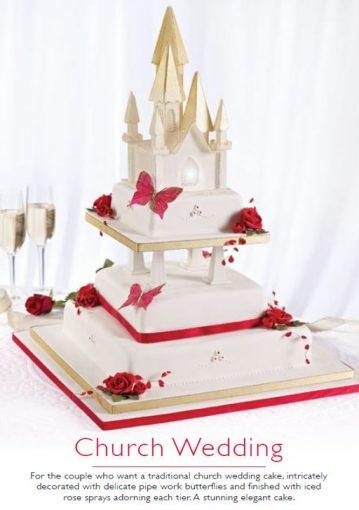 Church wedding cake 1